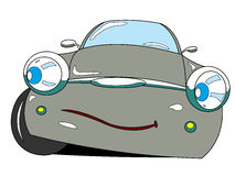 Car. The cartoon car with emotion Royalty Free Stock Images