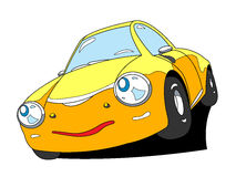 Car. The cartoon car with emotion Royalty Free Stock Image