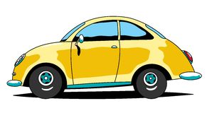 Car. The cartoon old beetle car Royalty Free Stock Photos
