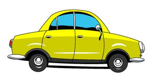 Car. The cartoon car with 4 doors Royalty Free Stock Images