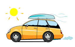 Car. The car going to the beach Royalty Free Stock Images