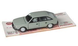 Car and 500 ruble Stock Image