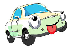Car. The cartoon car with tongue Royalty Free Stock Image