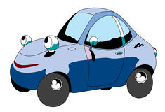 Car. The cartoon car with eye Stock Photo