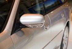 Car. Detail (rear-view mirror stock photography
