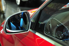 Car. Show,  rearviewmirror, get ready for run Royalty Free Stock Photography