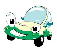 Car. The cartoon car with smile Royalty Free Stock Photo