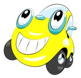 Car. The cartoon car with smile Royalty Free Stock Photos