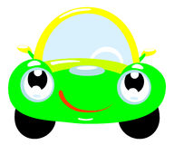 Car. The cartoon car with smile Royalty Free Stock Photography