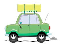 Car. The car with luggage carrier Stock Photography