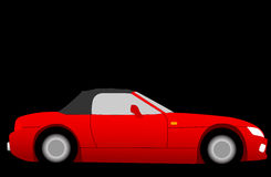 Car. Illustration of red sports car royalty free illustration