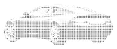 Car. Black and White Dotted Car vector illustration
