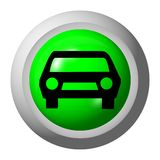 Car. Web button - a computer generated image Stock Images
