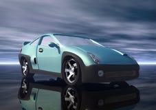 Car. A sky blu prototype car in 3d Stock Images