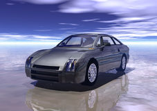 Car. A black prototype car in 3d Stock Images