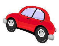 Car. The cartoon car in action Royalty Free Stock Photo