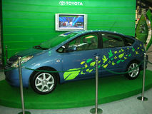 Car. BANGALORE - FEBRUARY 24: A Toyota's Prius car on display at the 18th International Engineering & Technology Fair (IETF), February 24, 2009, at the Bangalore Royalty Free Stock Photo