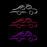 Car with abstract lines Royalty Free Stock Photos