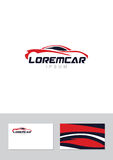 Car abstract lines  logo design concept with business card Stock Photography