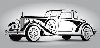 Retro Car Abstract Lines Vector. Vector illustration Stock Images