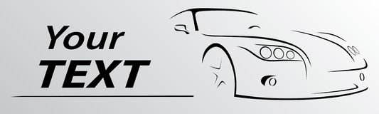 Car abstract lines Vector illustration Royalty Free Stock Photography