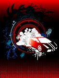 Car abstract vector. Composition illustration Royalty Free Illustration