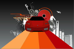 Car abstract vector. Composition illustration vector illustration