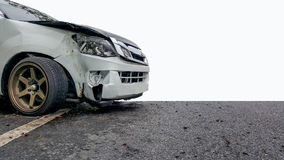 Car accdident on road. Serious car crash on the main road Royalty Free Stock Image