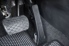 Car accelerator and brake pedal. Automobile accelerator and brake pedal Royalty Free Stock Images