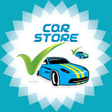 Car Accept Icon, Illustration, Sign, Symbol, Logo. Car Accept Icon for Service Companies and Car Stores Stock Images