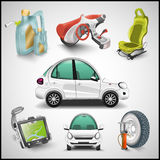 Car and accessories  Royalty Free Stock Photo