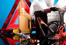 Car Accessories on vivid moto concept Stock Image