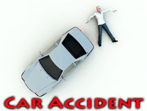 Car Accident 11. A conceptual image warning people not to speed, as it could cause a possible road death Stock Image