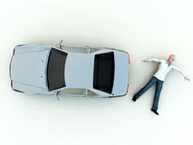 Car Accident 16. A conceptual image warning people not to speed, as it could cause a possible road death Stock Photo