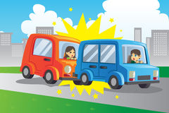 Car accident royalty free illustration