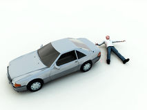 Car Accident. A conceptual image warning people not to speed, as it could cause a possible road death Stock Photography