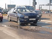 Car accident. Accident on the high way Royalty Free Stock Photo