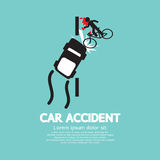 Car Accident With Bicycle Stock Photography