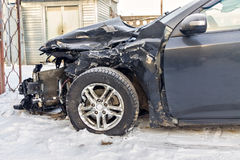 Car after an accident Stock Photo