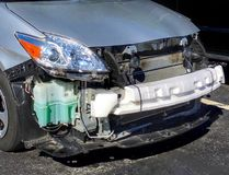 Car accident. And body shop, collision center to repair Royalty Free Stock Photo