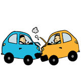 Car accident cartoon Royalty Free Stock Photography