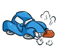 Car accident cartoon illustration Stock Photography