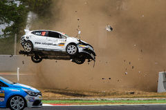 Car accident on the Circuit de Catalunya Stock Images