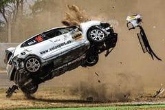 Car accident on the Circuit de Catalunya Stock Photos