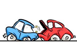 Car accident collision Royalty Free Stock Photos