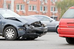 Car accident crash Stock Photography