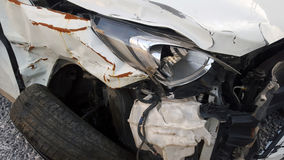 Car Accident. Car Crash on Front View Royalty Free Stock Photo