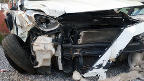 Car Accident. Car Crash on Front View Royalty Free Stock Photos