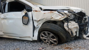 Car Accident. Car Crash on Front View Stock Photography