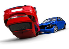 Car accident. 3D render image representing a car accident Stock Images